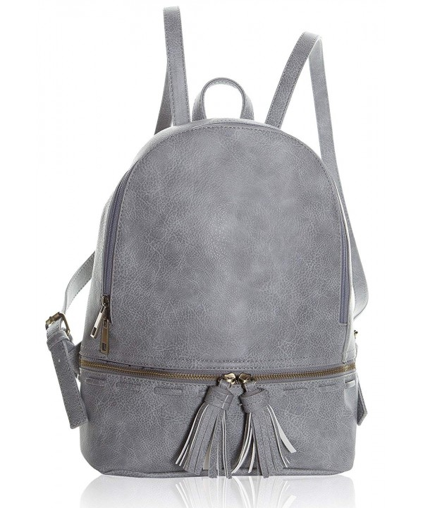 Backpack Women Leather Closure Pockets