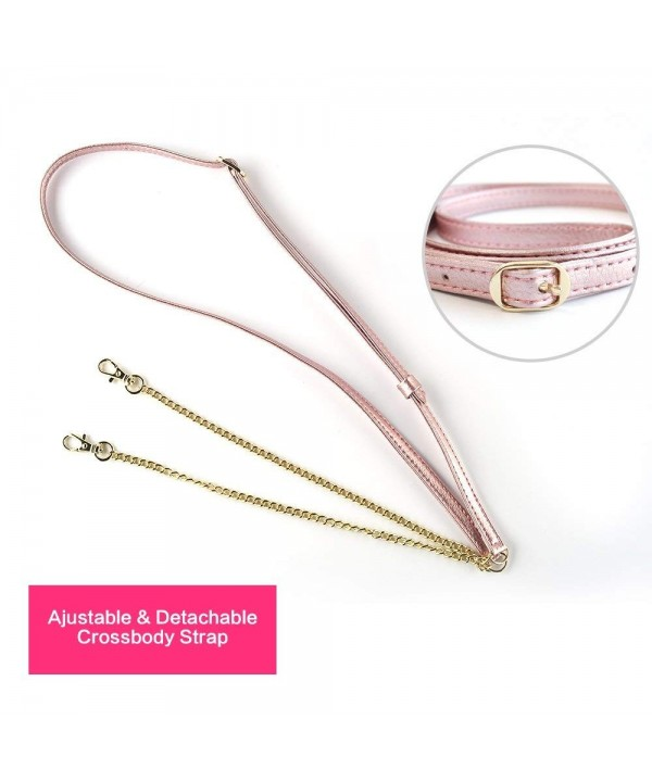 Adjustable Leather Replacement Crossbody Strap Rose