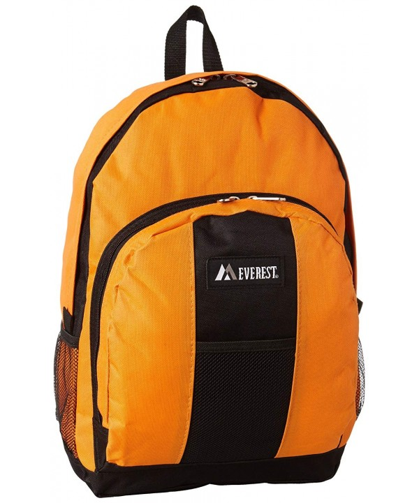 Everest Backpack Front Pockets Orange