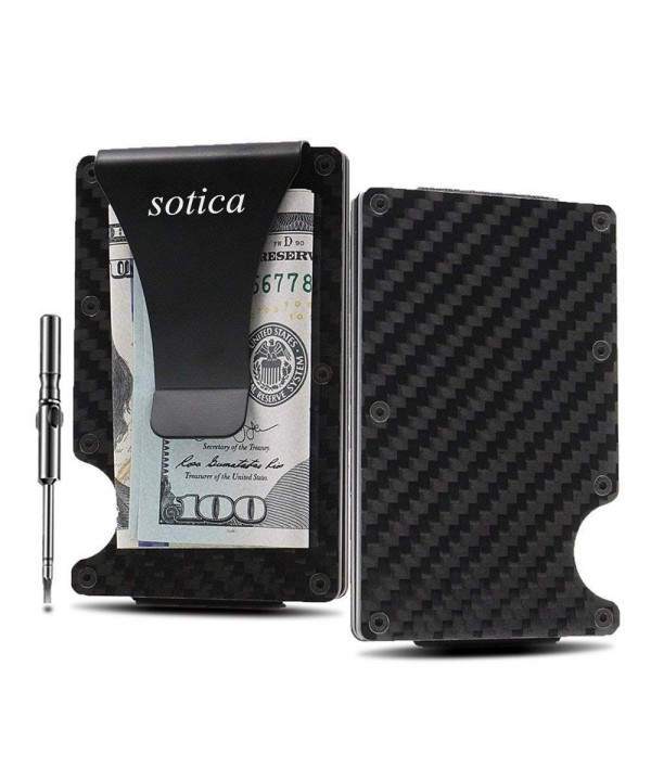 Minimalist Carbon Wallet Sotica Blocking