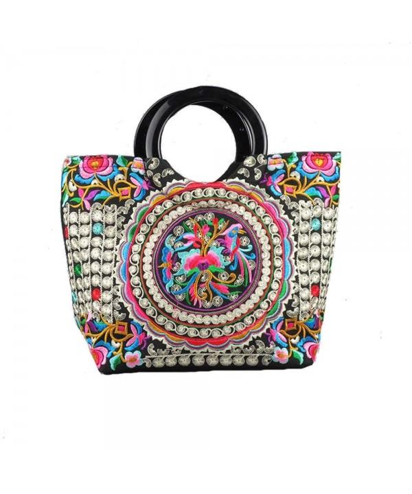 Vintage Handbag Embroidered Shoulder Shopping
