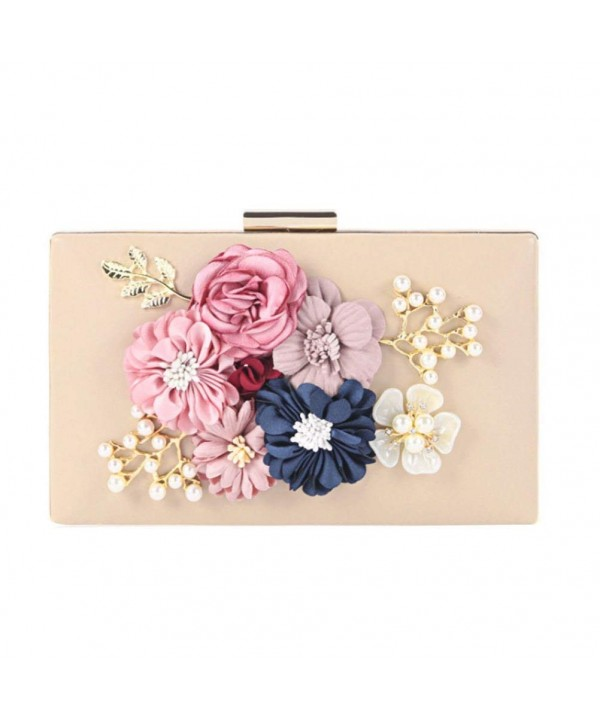 Womens Evening Clutches Wedding Champagne