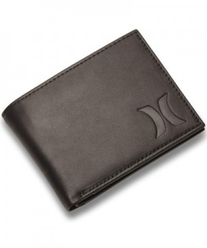 Hurley Mens Leather Wallet Black