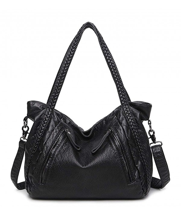 Leather Handbag Shoulder Capacity Slouchy