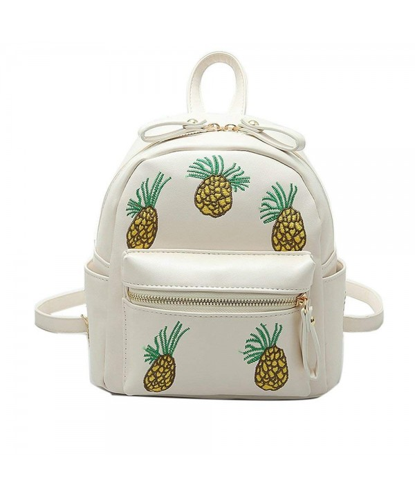 YSMYWM Embroidery Pineapple Backpack Shoulder