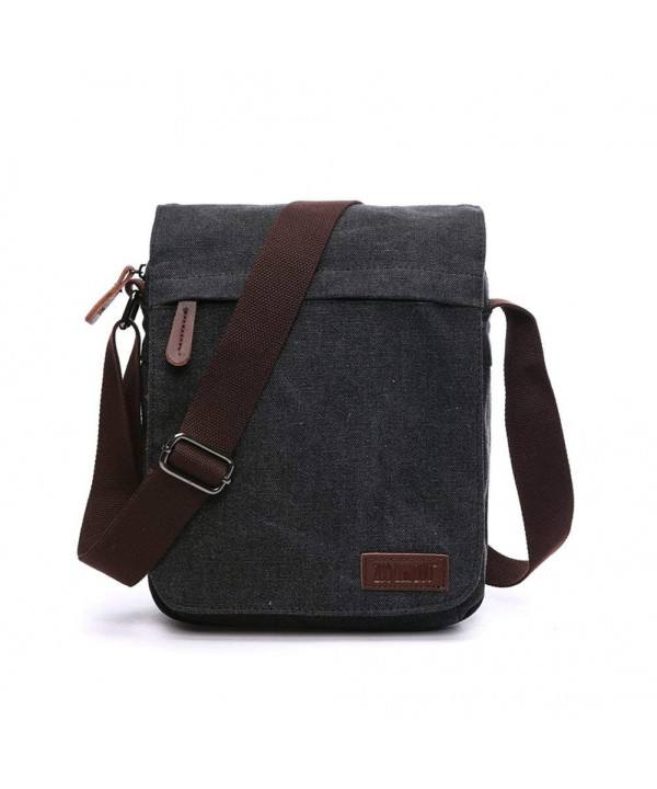 NANJUN Vintage Messenger Shoulder jb007 Black