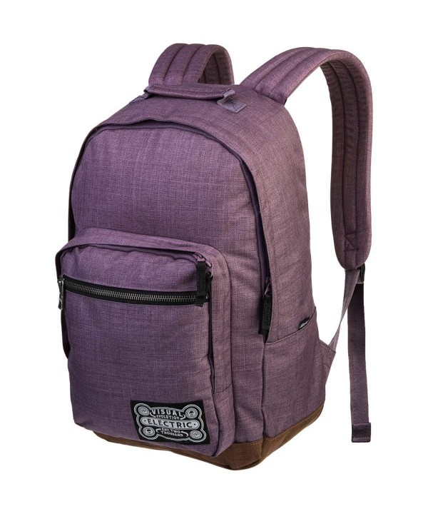 Electric Visual Everyday Purple Backpack