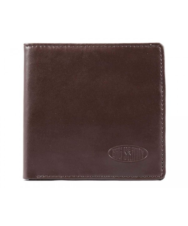 Big Skinny Leather Bi Fold Wallet