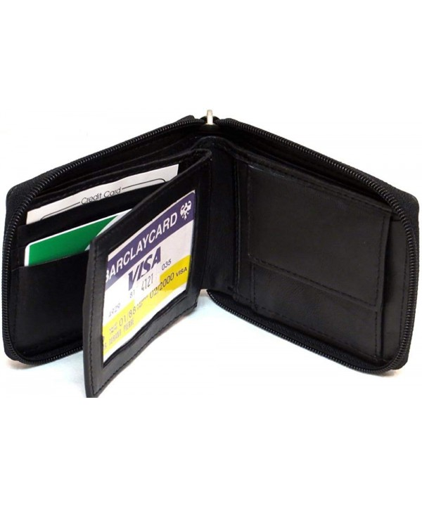 Genuine Lambskin Leather Around Wallet
