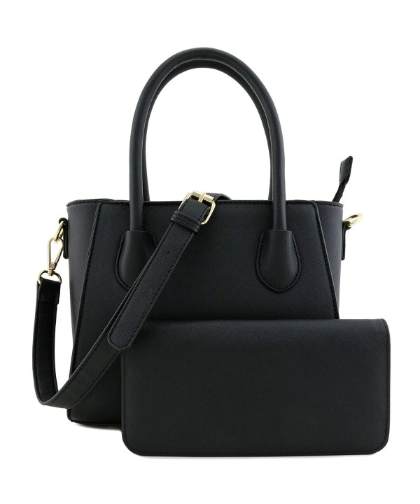 Classic Handle Saffiano Satchel Around