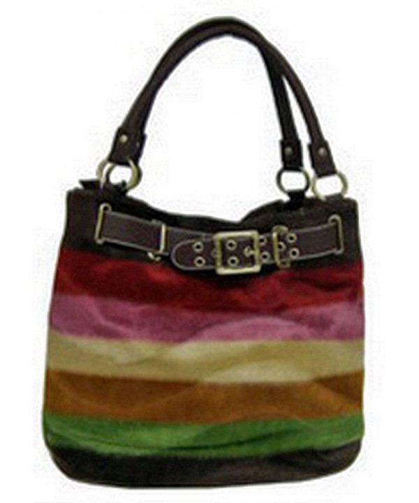 Designer Inspired Faux Striped Purse