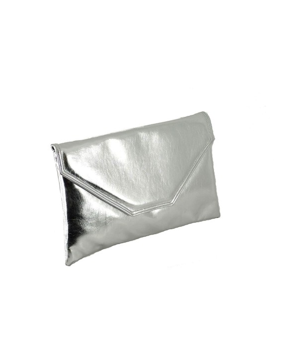 Stylish Envelope Metallic Shoulder Silver