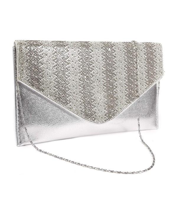 Womens Diamante Envelope Evening Handbag