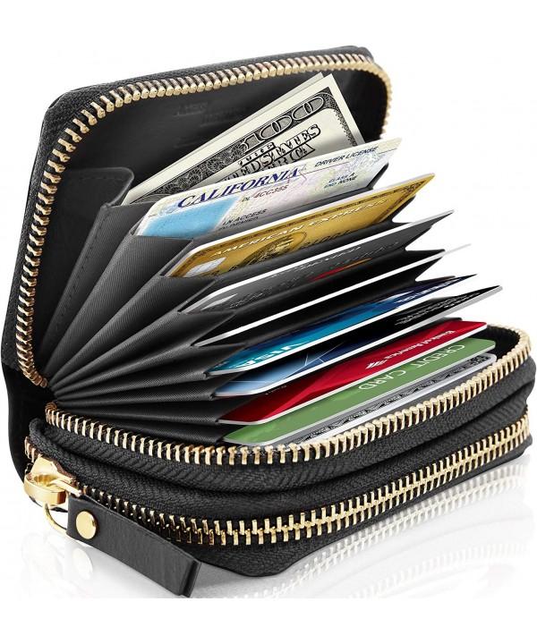 Small Leather Zipper Wallets Women