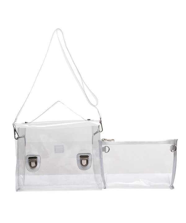 Clear Piece Satchel Crossbody Purse
