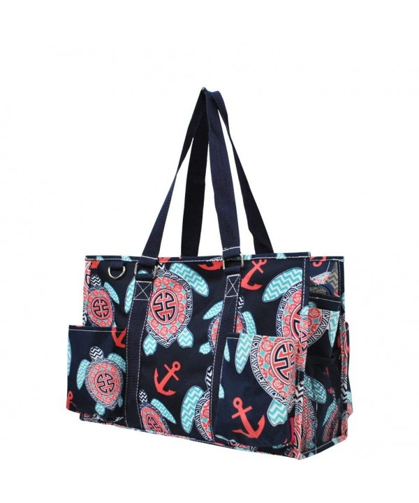 Turtle Anchor Print Zippered Organizer