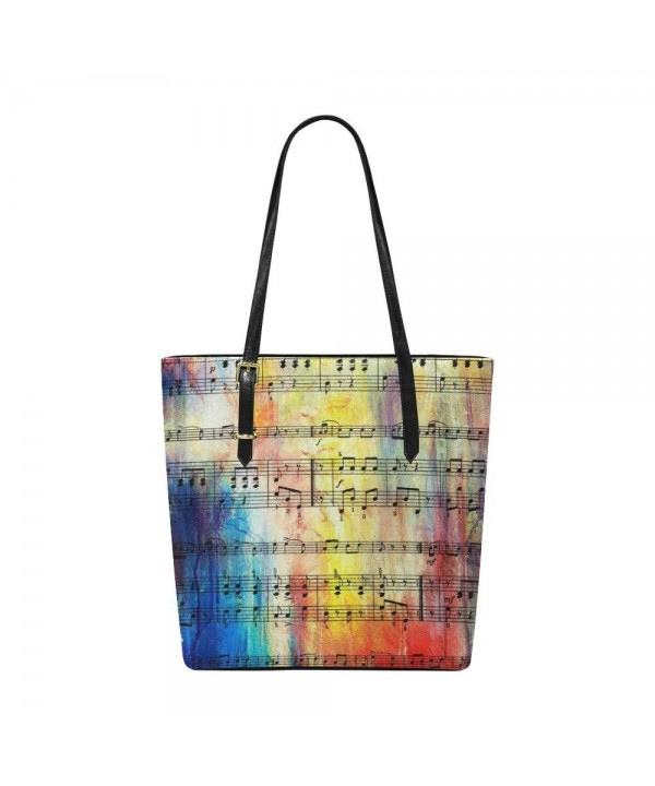 InterestPrint Music Leather Shoulder Handbag