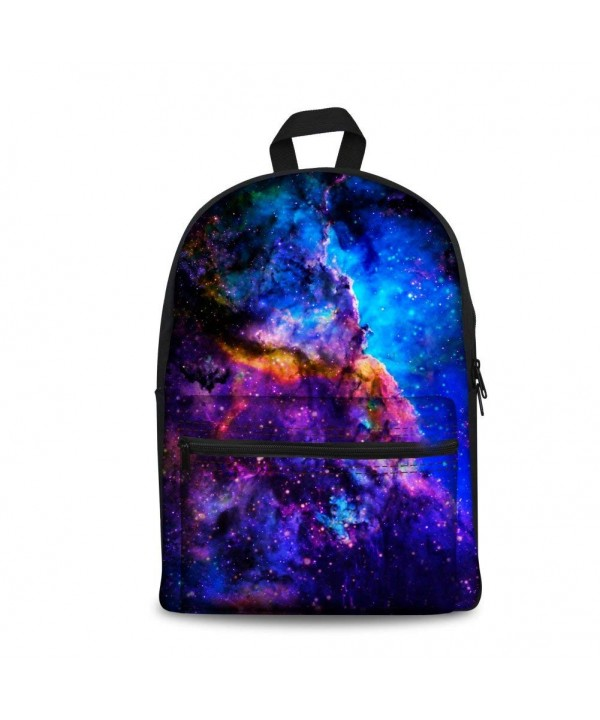 Coloranimal Stylish Galaxy Backpacks Teenage