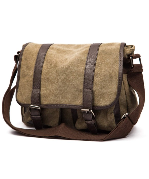 vintage military canvas shoulder messenger
