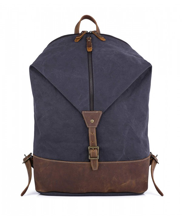 Gootium Canvas Leather Backpack Rucksack