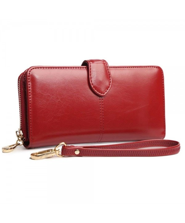 Wallet Leather Zipper Pocket Handbag