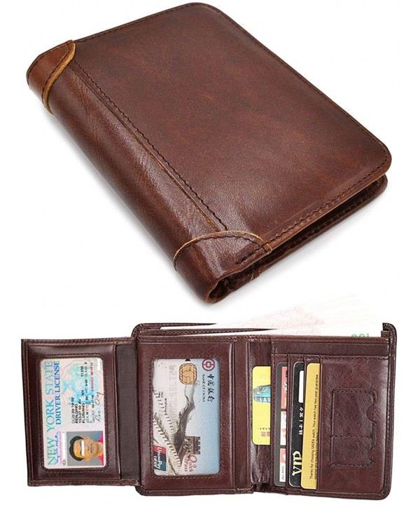 Blocking Wallet Cowhide Leather windows