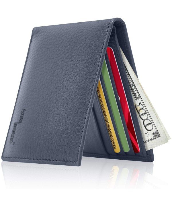 Slim Leather Bifold Wallets Men