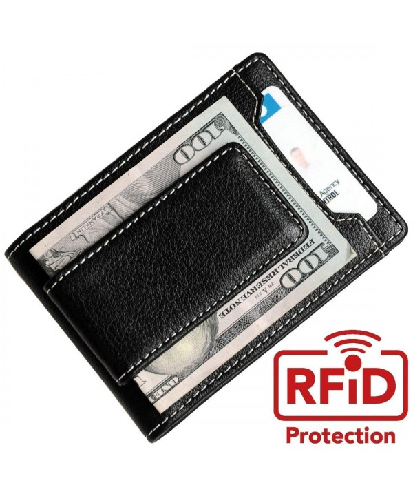 Slim Leather Credit Holder Money